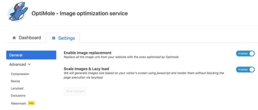 tool per ridurre il peso delle immagini